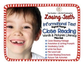 Losing Teeth Informational Text Close Reading: Words & Pic