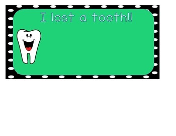 Lost Tooth Name Chart