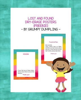 Lost and Found Posters {FREEBIE}