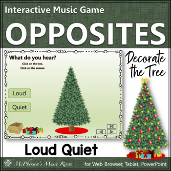 Loud or Quiet Interactive Music Game {Decorate the Christm