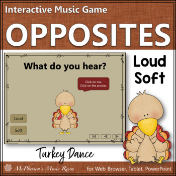 Loud vs Soft - Turkey Dance Interactive Music Game {dynamics}
