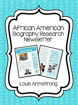 Louis Armstong Biography Newsletter, Research