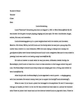 Louis Armstrong Sample Essay