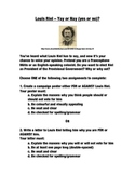 Louis Riel Campaign Poster or Letter Assignment