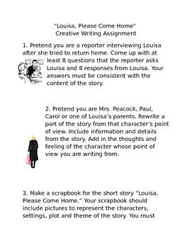 Louisa, Please Come Home Creative Writing
