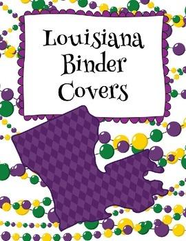 Louisiana Binder Covers Editable FREEBIE