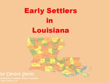 Louisiana Early Settlers Flipchart