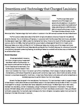 Louisiana History - How Technology Changed Louisiana