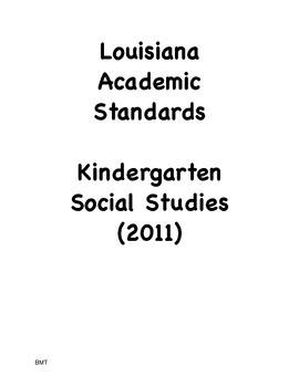 Louisiana Kindergarten Social Studies I Can Statements (20