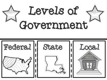 Louisiana Levels of Government Note Taking Flip Book and C