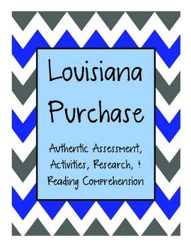 Louisiana Purchase Mini Unit {Authentic Assessment, Activi