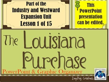 Louisiana Purchase PowerPoint and Graphic Organizer