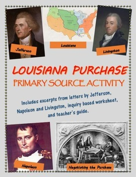 Louisiana Purchase primary source analysis activity