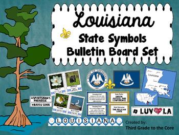 Louisiana State Symbols Bulletin Board Set