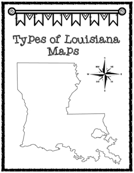 Louisiana's Geography Map Packet
