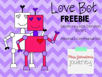 Love Bot Clipart  FREEBIE