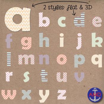 Love Bug Matching Digital Alphabet & Numbers Clip Art Set-
