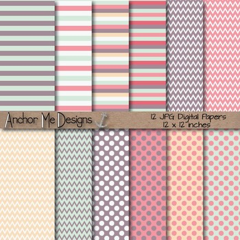 Love Bug Valentine's Day Digital Paper Pack Freebie Commer