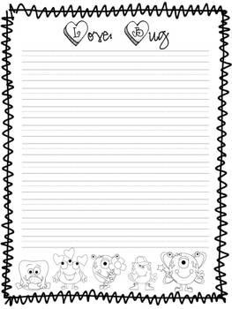 Love Bug writing paper