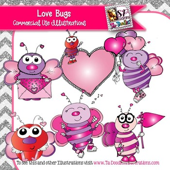 Love Bugs Valentine's Day clip art