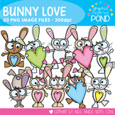 Bunny Love Clipart - Great for Valentines and Spring