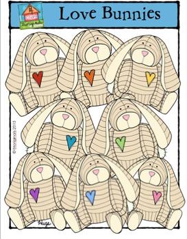 Love Bunnies {P4 Clips Trioriginals Digital Clip Art}
