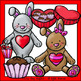 Valentine's Day Bunny Clip Art - Chirp Graphics