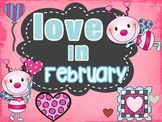 Love In February Literacy Centers/Activities
