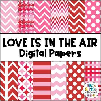 Love Is In the Air Digital Paper {Freebie!}