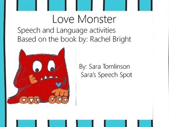 Love Monster: Speech and Language Articulation Activities