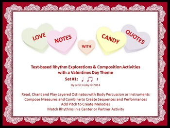 Love Notes with Candy Quotes - Music Activities with a Val