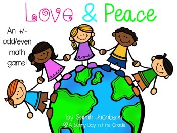 Love & Peace {an addition/subtraction, odd/even math game!}