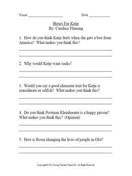 Critical thinking questions to-Love, Ruby Lavender By: Deb