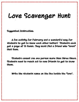 Love Scavenger Hunt