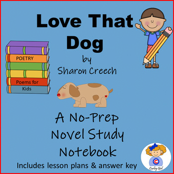 Love That Dog Literature Group Notebook