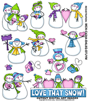 Love That Snow Clipart