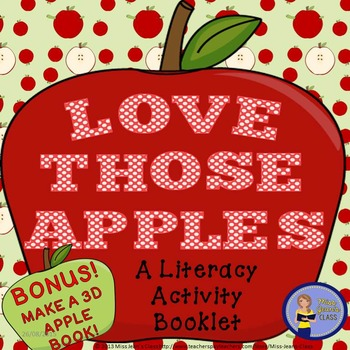 Literacy Booklet with BONUS 3D Apple Activity - Love Those