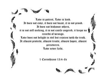 Love is patient love is kind bible verse