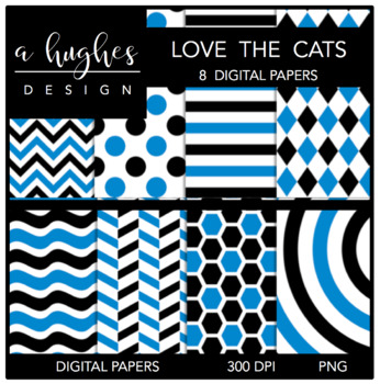 Love the Cats {12x12 Digital Papers for Commercial Use}