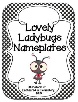 Lovely Ladybug Nameplates