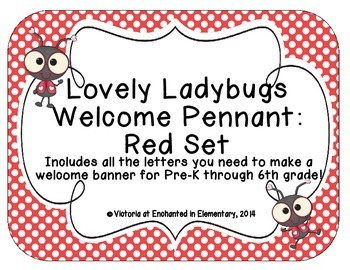 Lovely Ladybug Welcome Pennant: Red Set