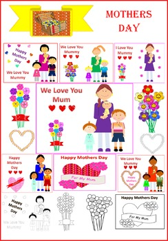 Lovely Mothers Day Clipart (Australian wording)