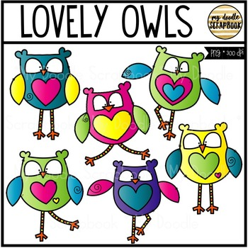 Lovely Owls Clip Art - Valentine's Day (Clip Art for Perso
