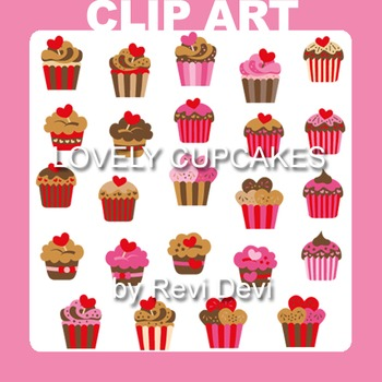 Cupcake clip art - Lovely cupcakes clipart (teacher resour