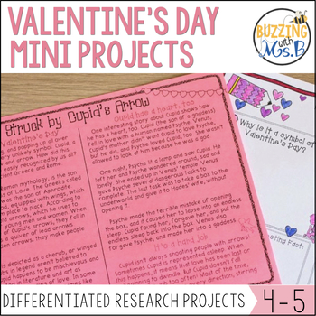 Lovin' Literacy: Valentine's Day Differentiated Research M