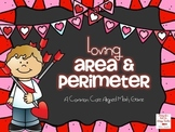 Loving Area and Perimeter Game and Task Cards