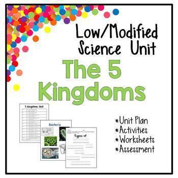 Low / Modified 5 Kingdoms Science Unit - Includes Lesson P