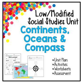 Low / Modified Continents, Oceans, Compass Unit - Includes