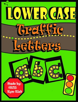 Lower Case Traffic Letters