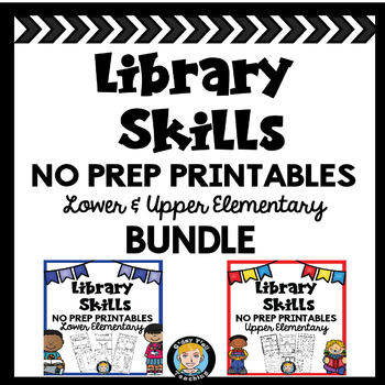 Lower and Upper Elementary Library No Prep Printables BUNDLE